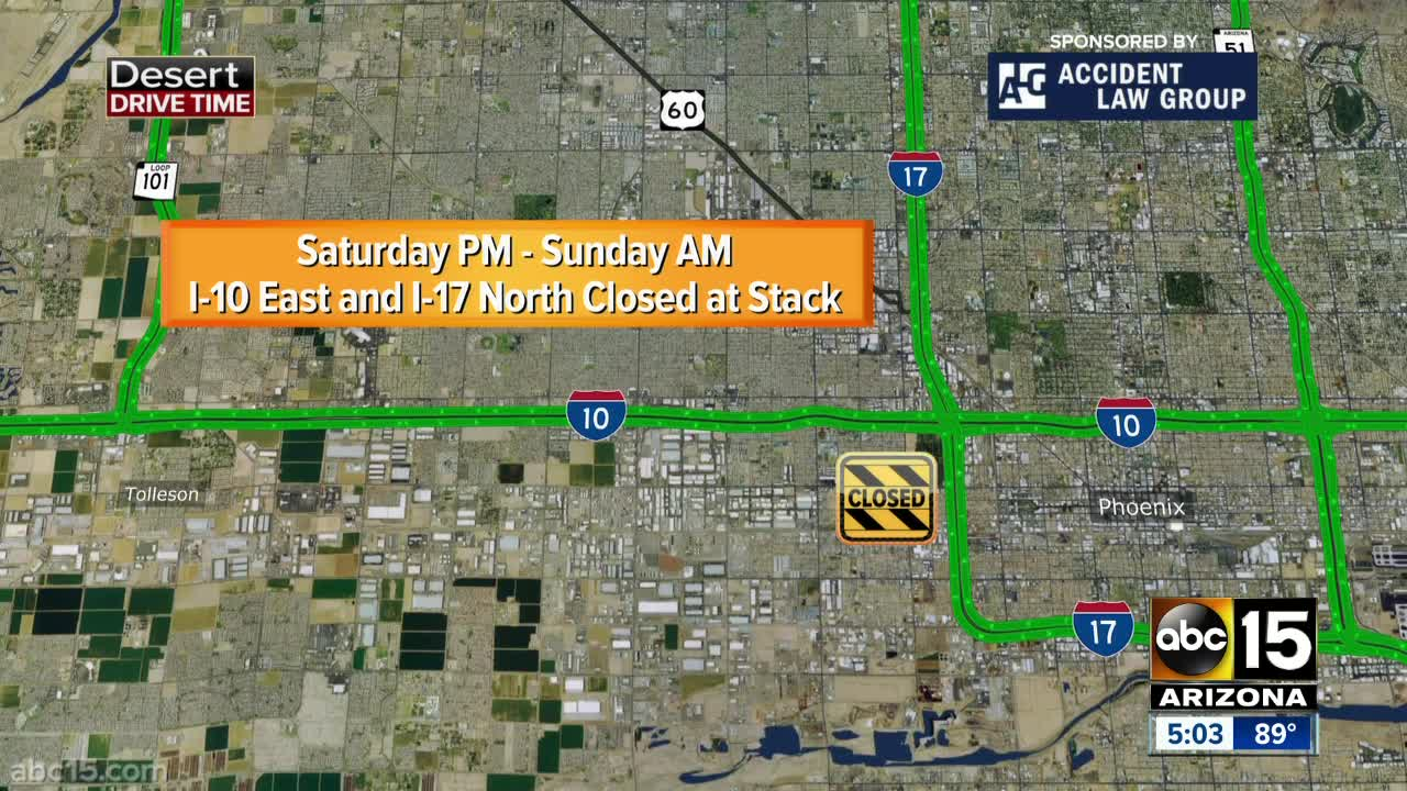Traffic Map Phoenix Az.Us 60 Closure Set For This Weekend To Make Changes Improve Safety