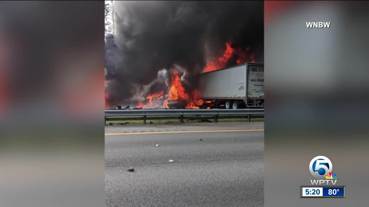 6 dead in fiery I-75 crash near Gainesville, fire rescue says