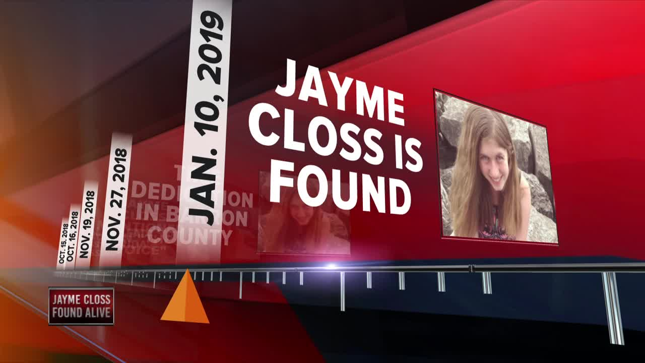 Jayme Closs a 13-year-old girl who went missing in October after her parents were murdered was located alive on Thursday