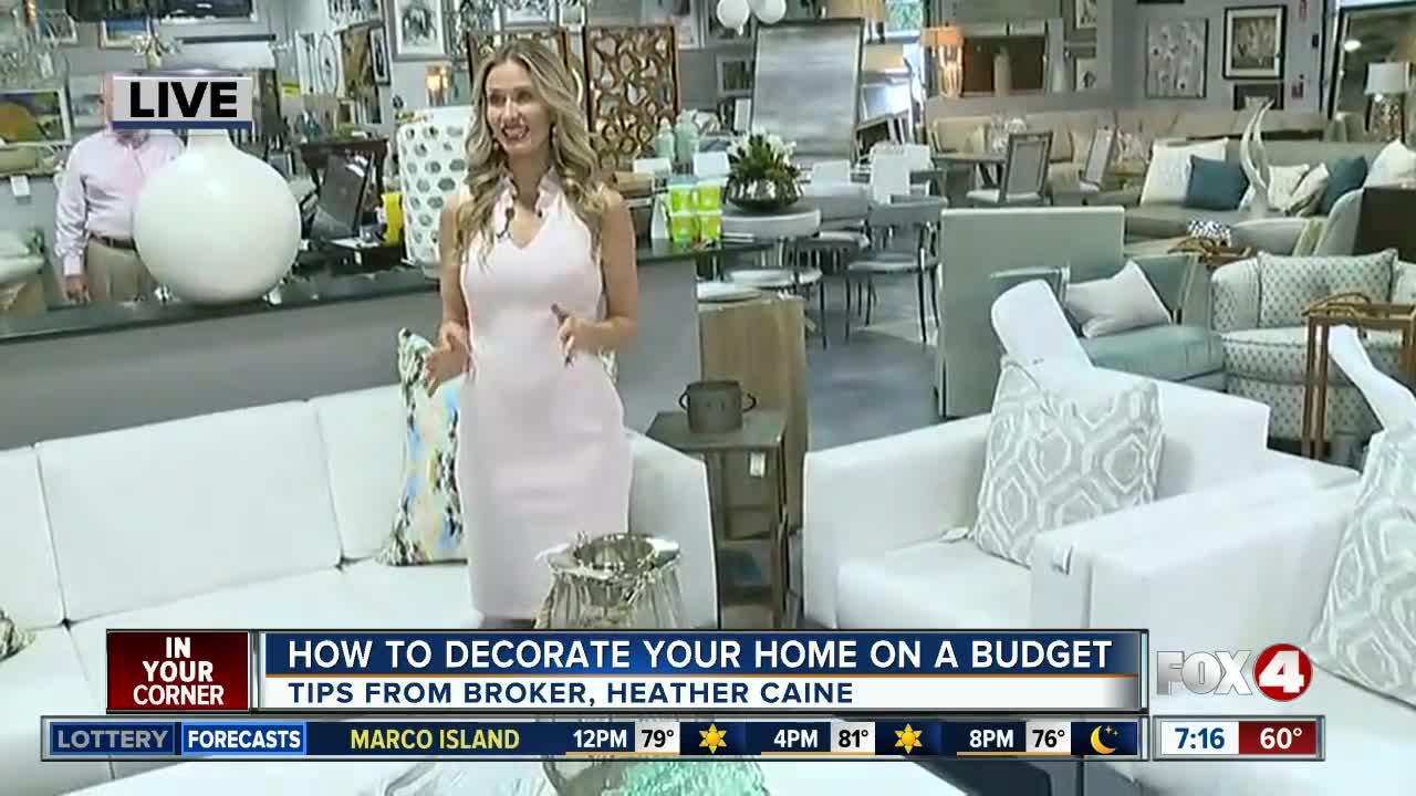 Local Broker Heather Caine Offers Home Decorating Tips On A Budget