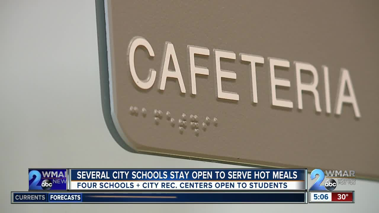 Some Baltimore City Schools opened for breakfast, lunch during