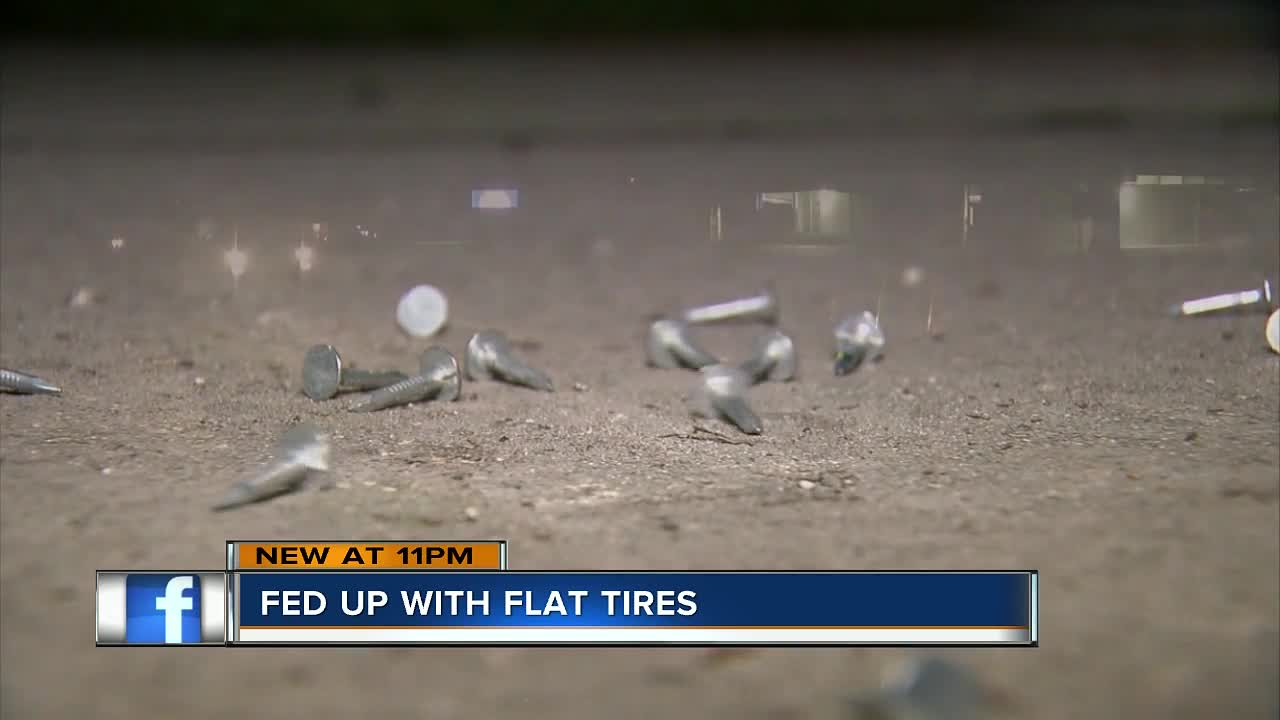 Neighbors fed up with nails left scattered along school