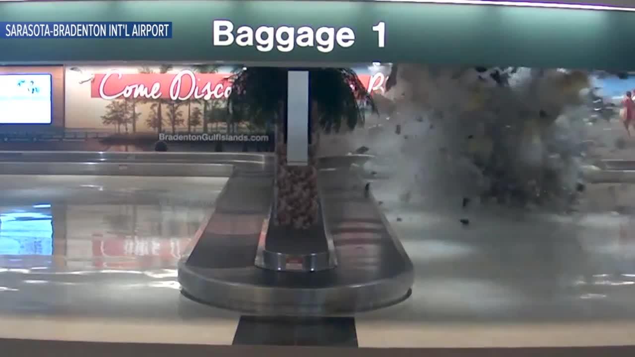 Truck Crashes Through Florida Airport, Smashes Into Car Rental Counter