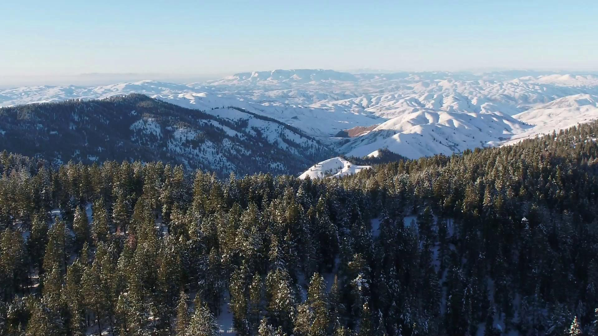 WATCH: Bogus Basin snow from above