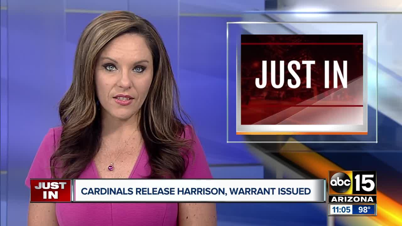 Cards release Harrison after arrest warrant issued