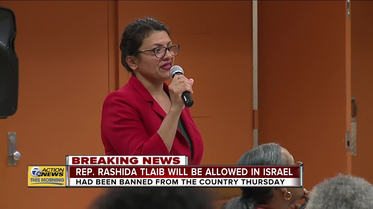 Tlaib speaks to supporters following decision not to travel to Israel