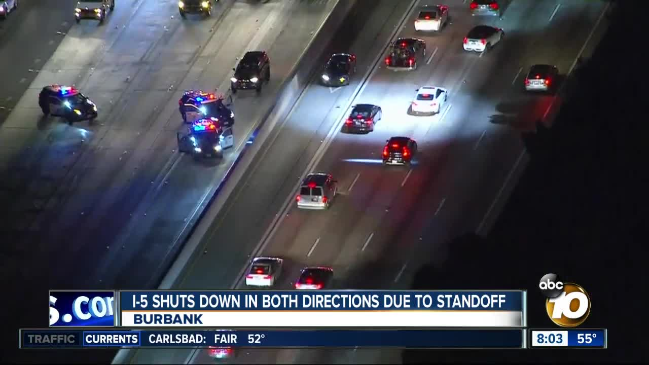 Wild LA-area police chase backs up traffic for miles on freeway