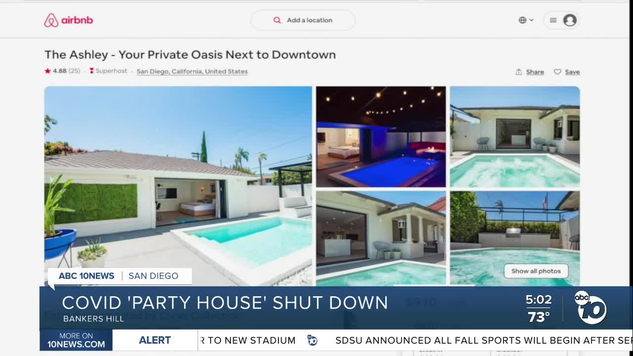 City Of San Diego Shuts Down Bankers Hill Airbnb Party House