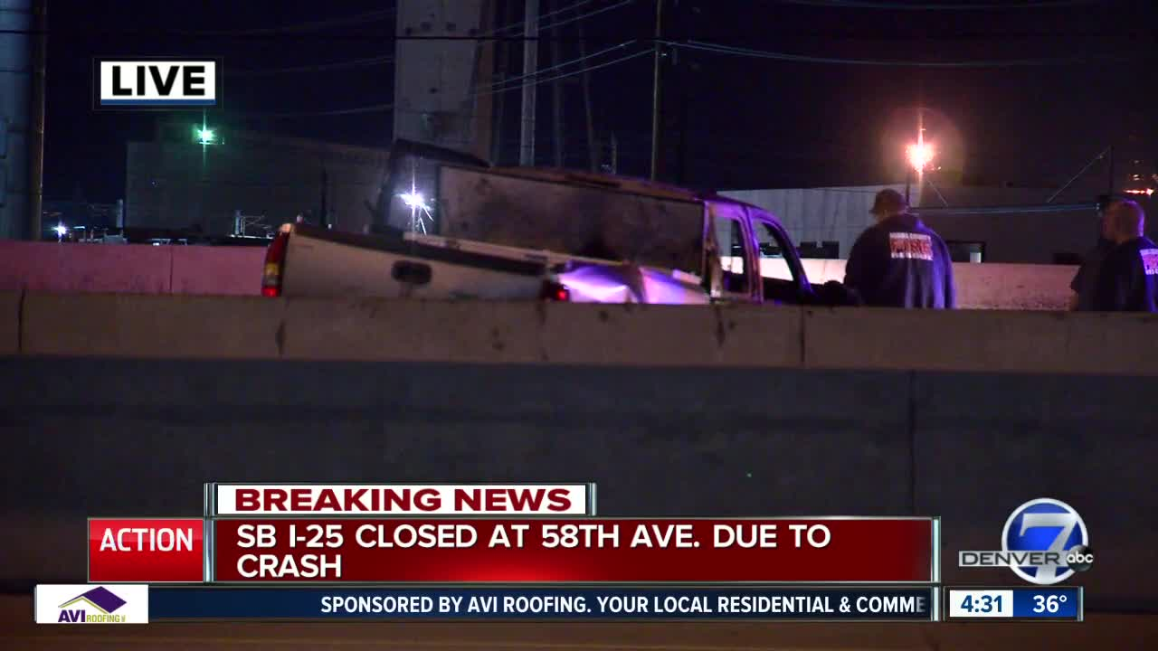 Southbound lanes of I-25 reopen after fatal crash closes
