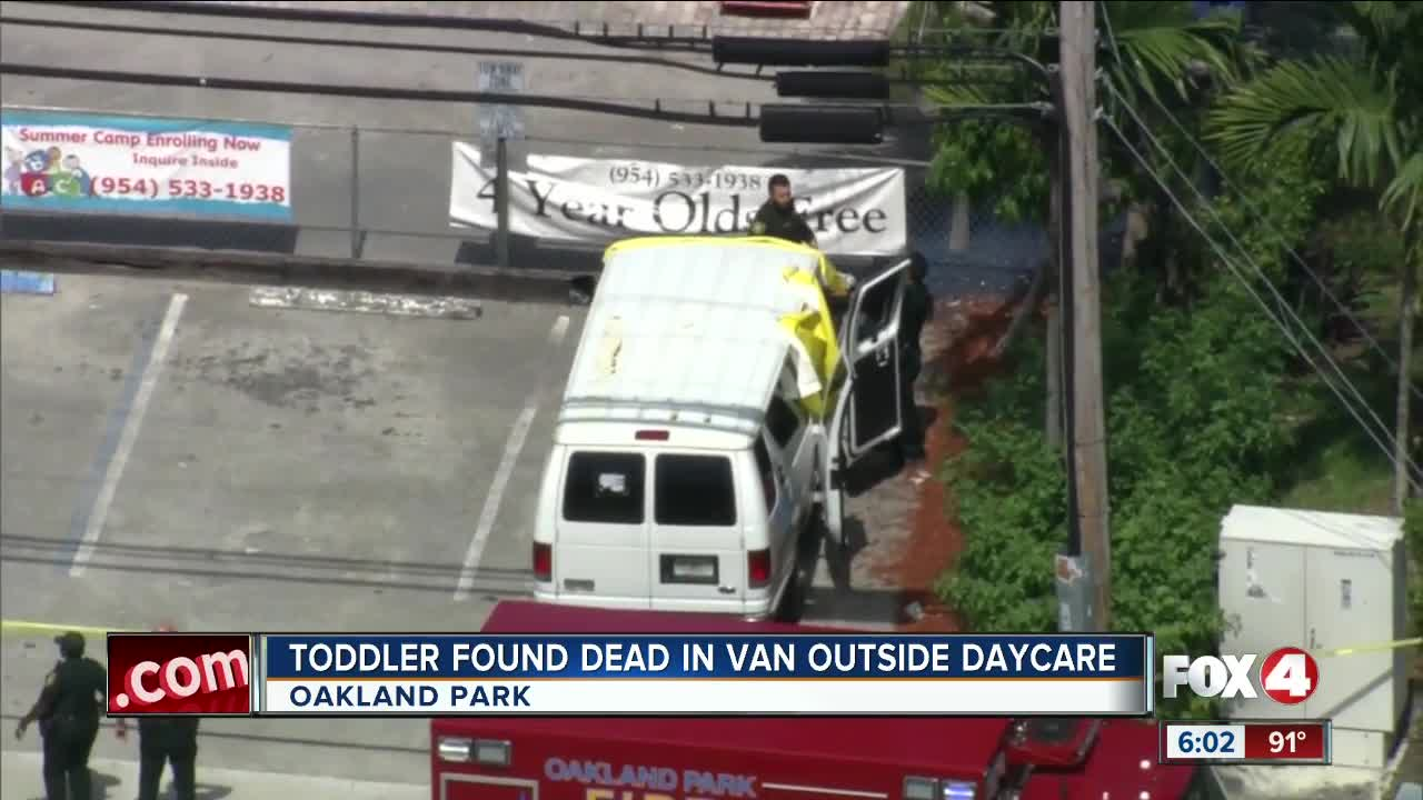 Toddler, 2, found dead in van outside Florida daycare