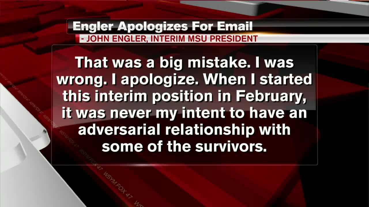 in letter on email comments msu interim president engler says i was wrong i apologize fox 47 news wsym lansing jackson