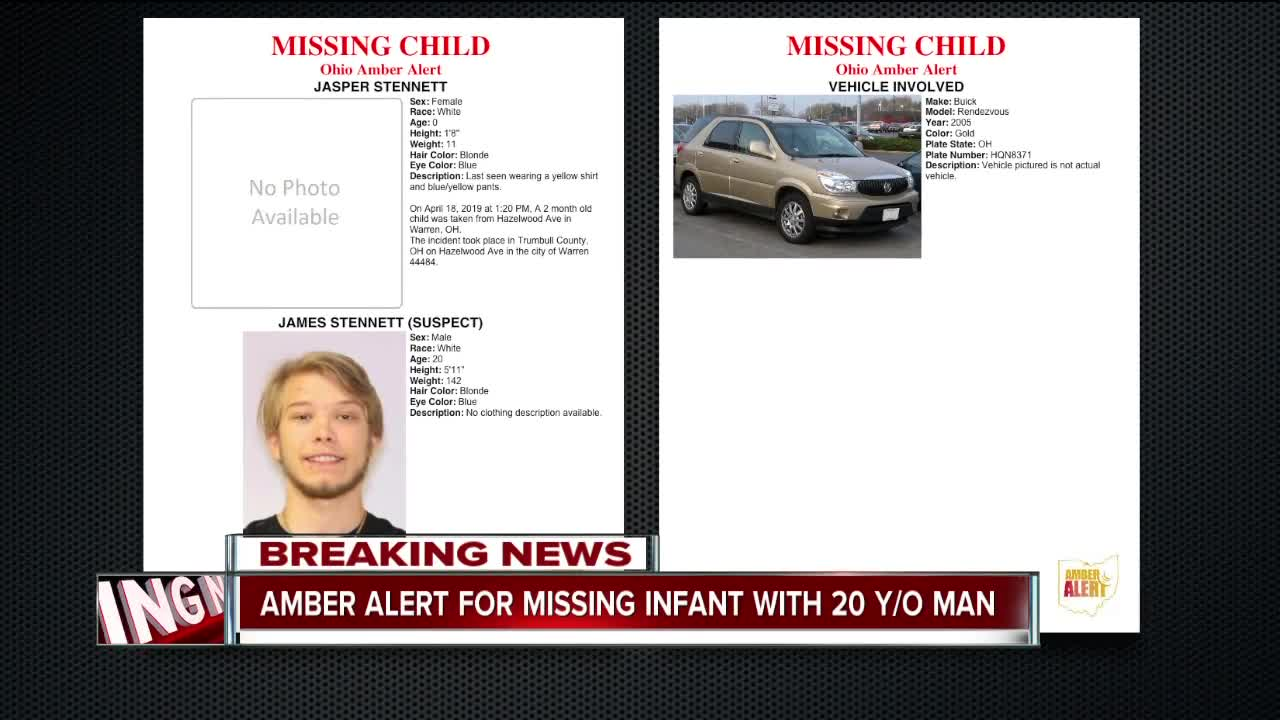 2-month-old child taken from Warren found, authorities say