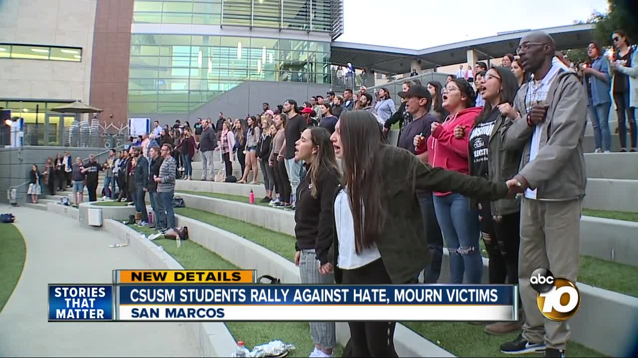 Csu San Marcos >> Cal State San Marcos Students Rally Against Hate Hold