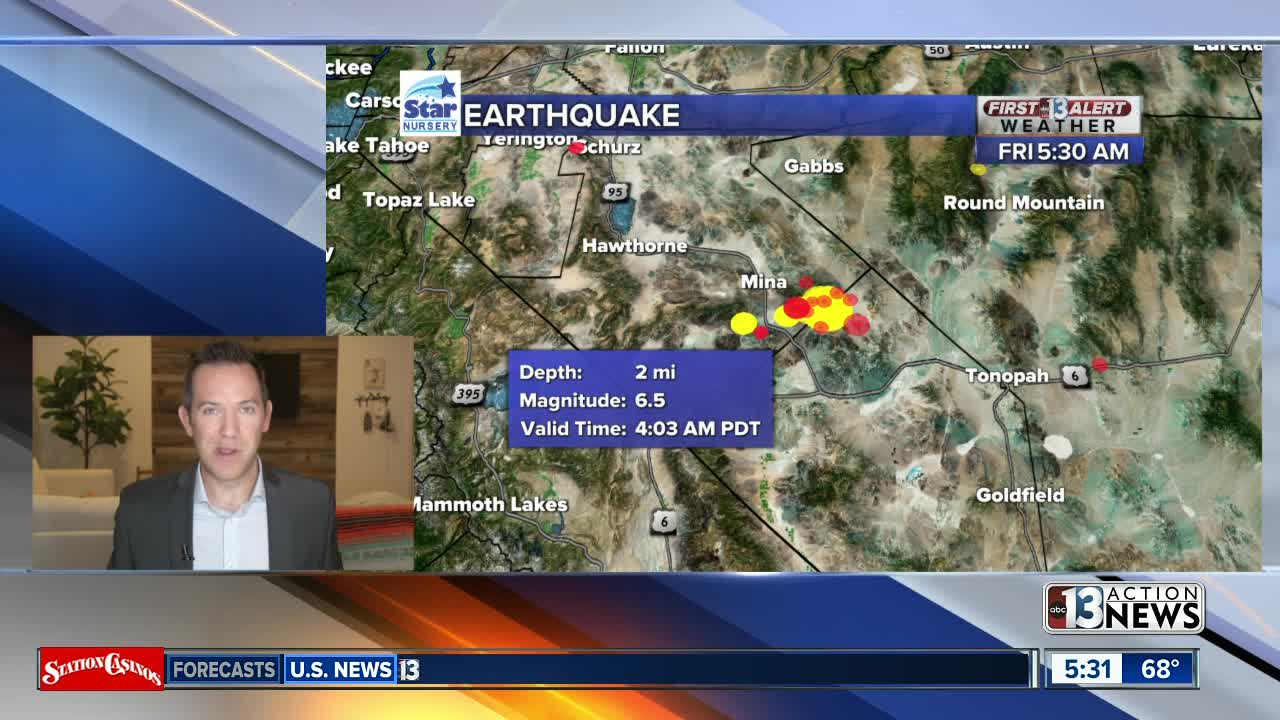Vegas-Reno highway cracked, closed after 6.5 quake in Nevada