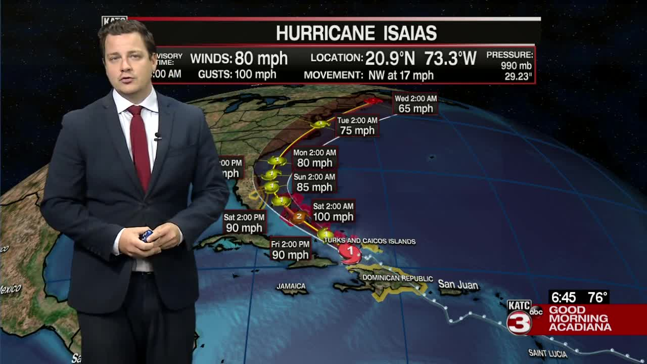 Bahamas and Florida brace as Hurricane Isaias bears down