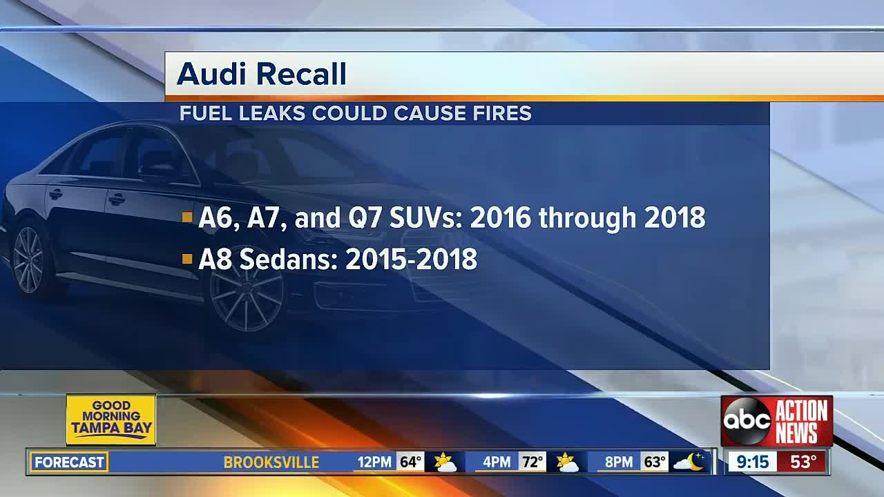 Audi recalls more than 75K vehicles due to fire risk
