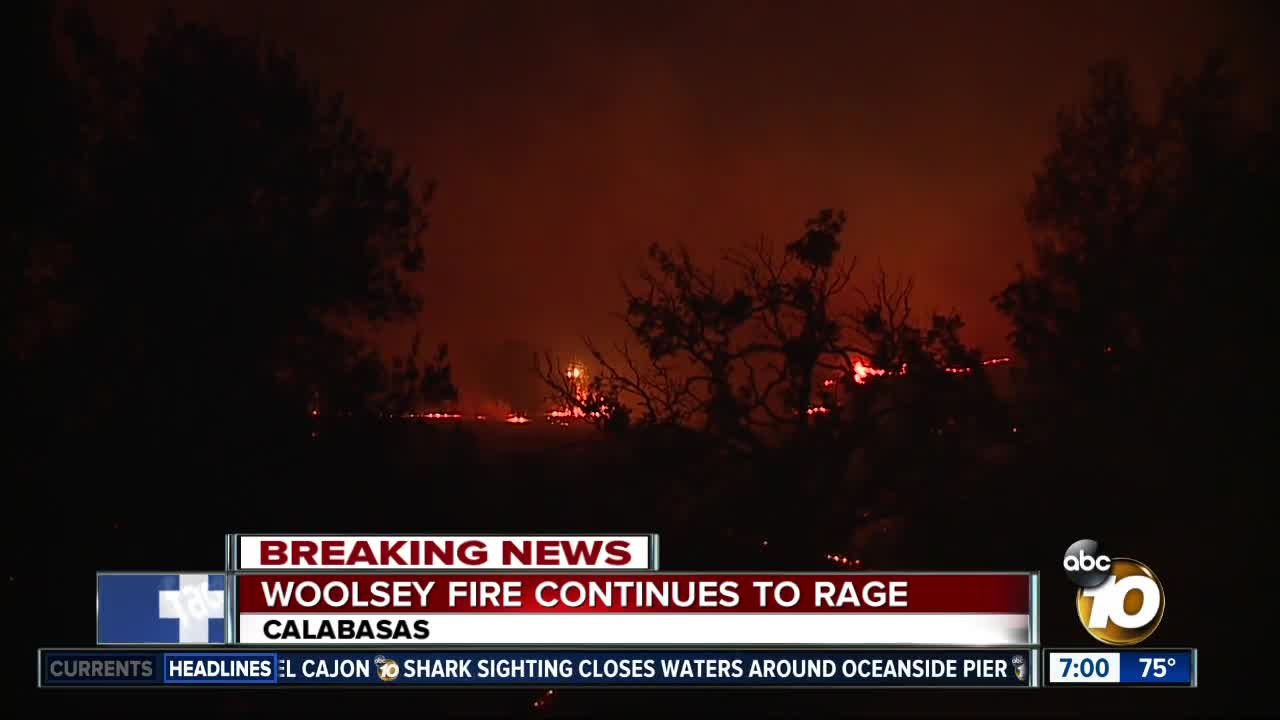 Interactive Map Hill Woolsey Fires Burn In Ventura County