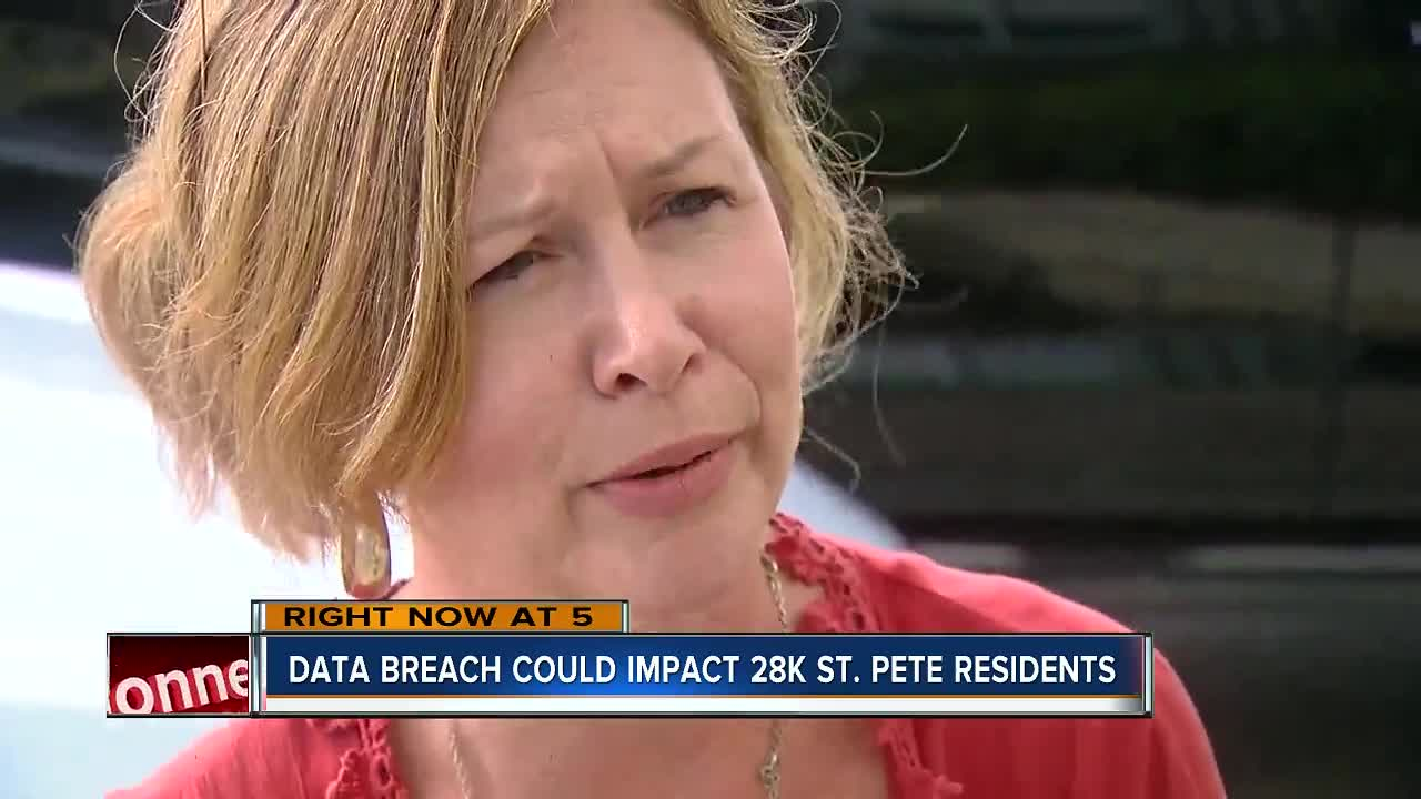 City of St  Petersburg announces data security breach involving