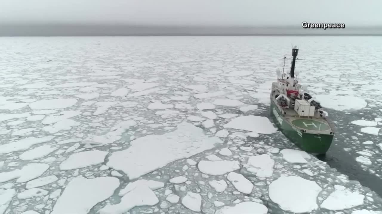 Arctic ice melts to second lowest level