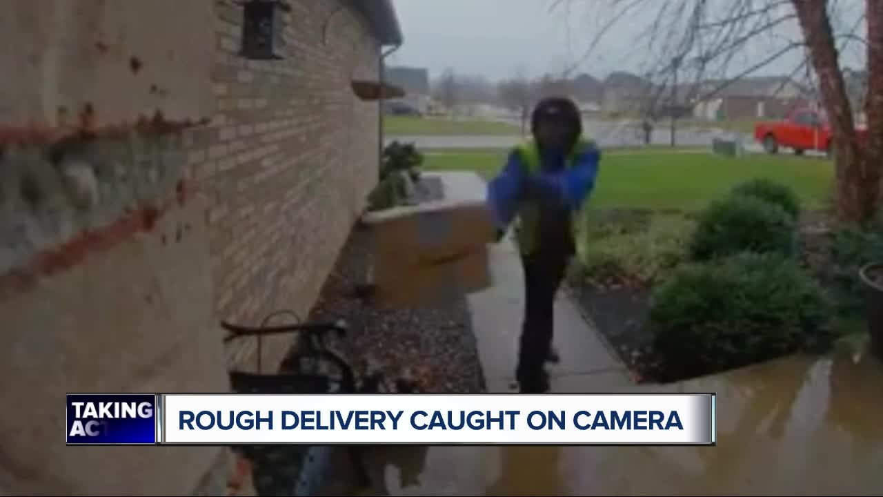 Amazon Delivery Driver Caught On Video Throwing Package Full Of Gifts