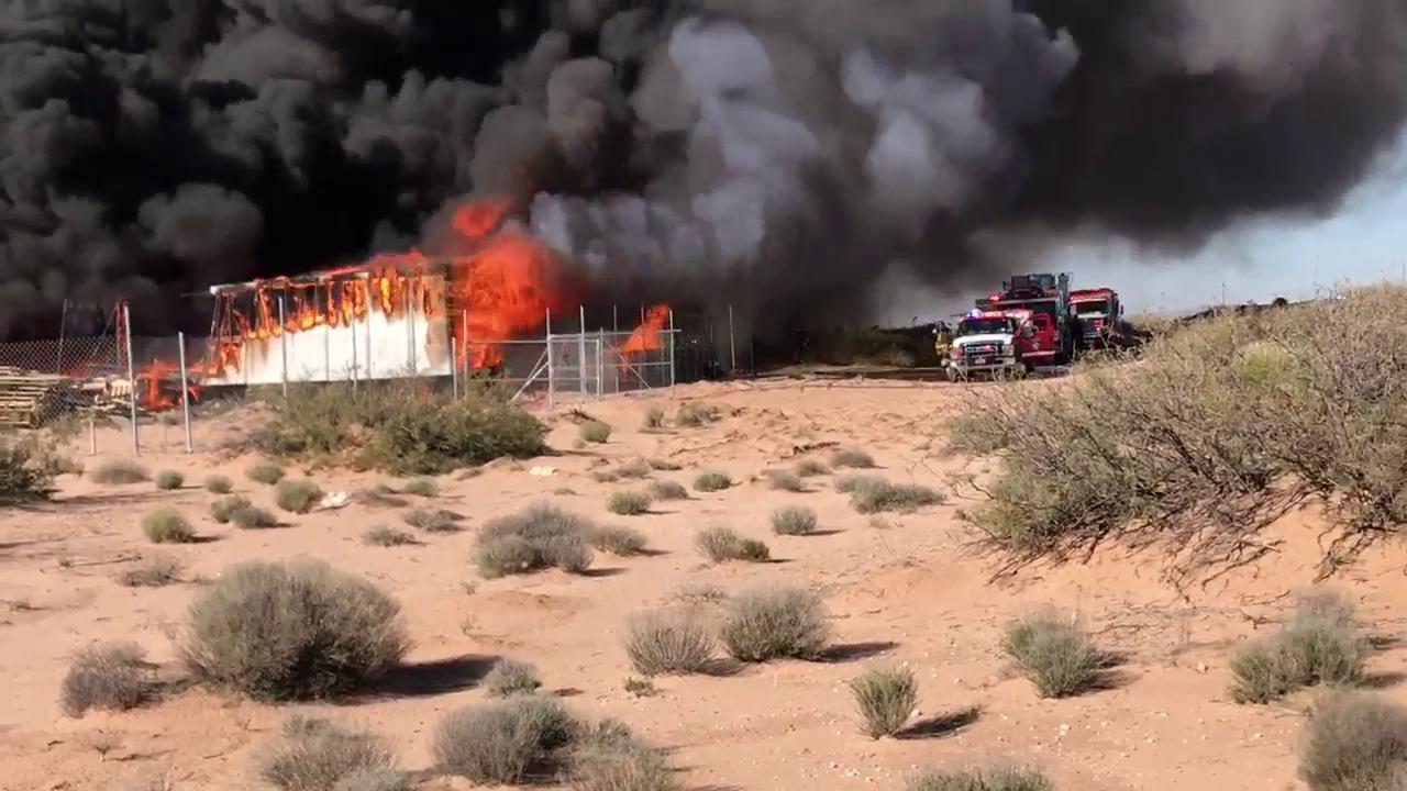Fire in far east El Paso county
