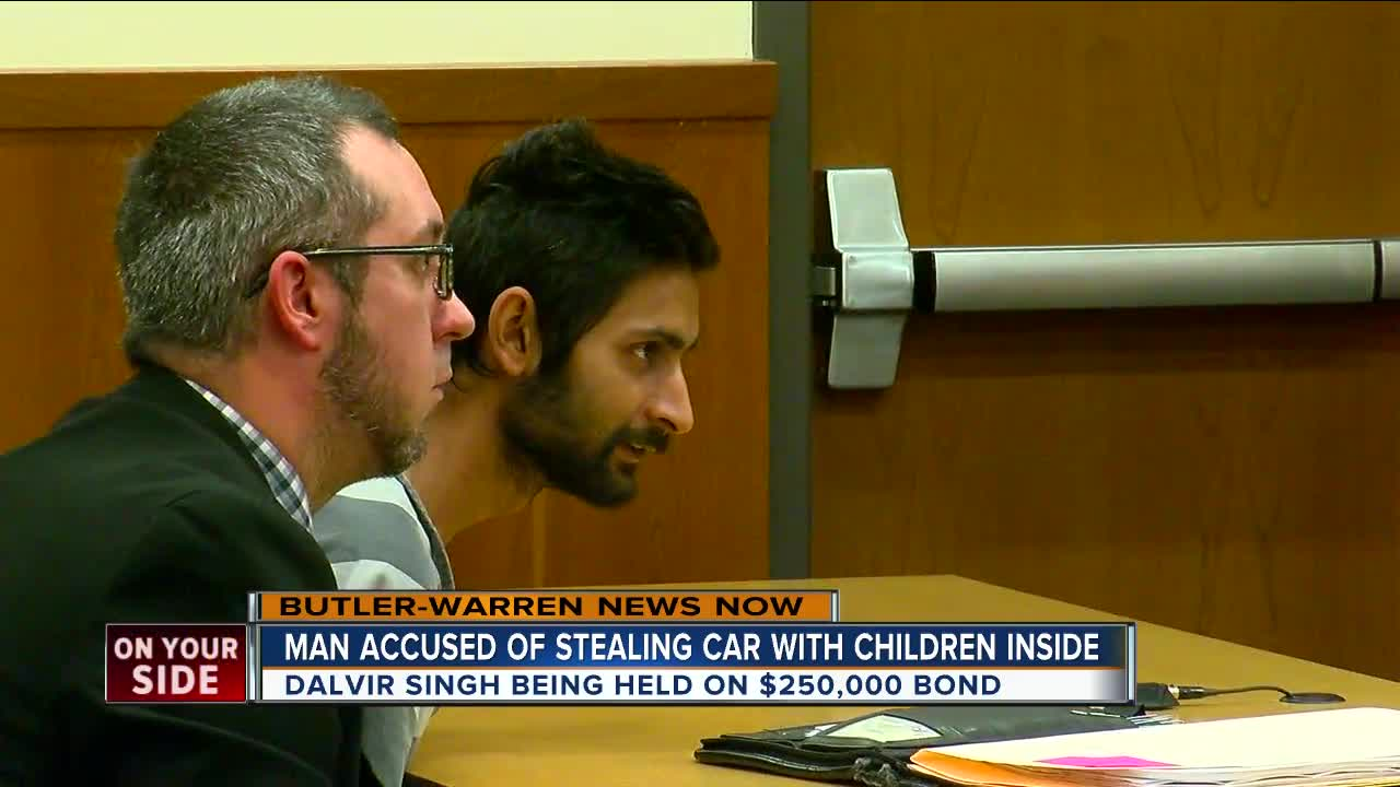 Bond Set For Man Accused Of Stealing Car With Children Inside