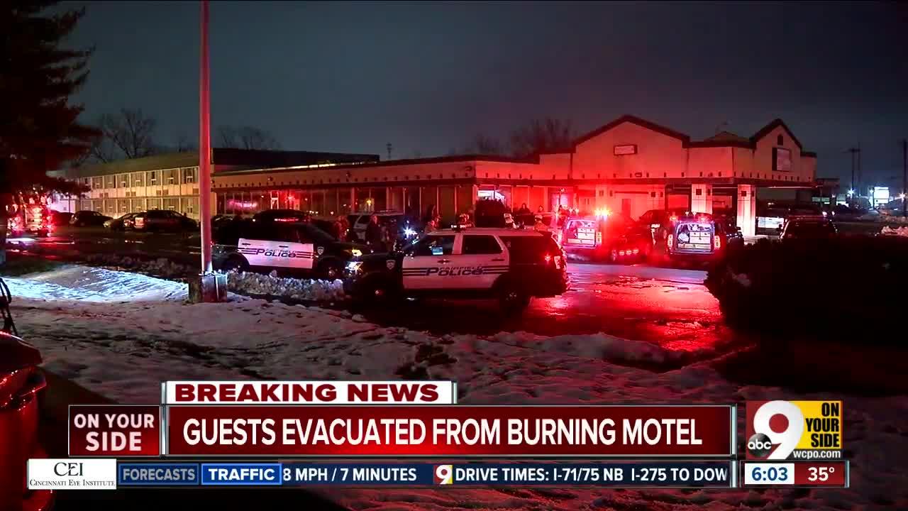 Dozens displaced by Fairfield motel fire