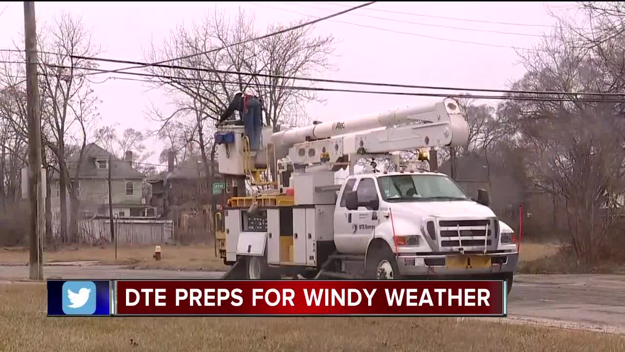 DTE prepares for power outages ahead of high winds forecast