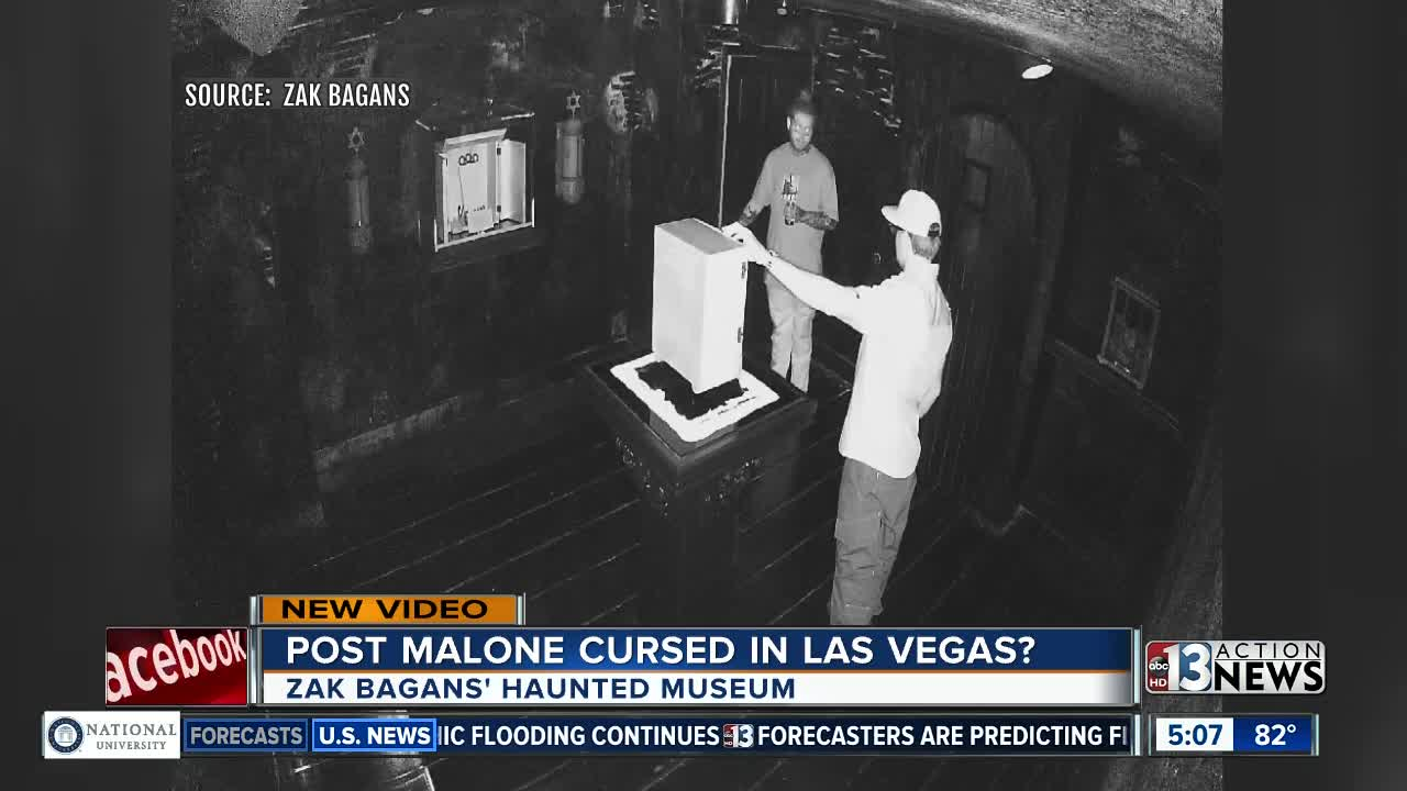 Rapper Post Malone has bad luck after visit to Zak Bagans