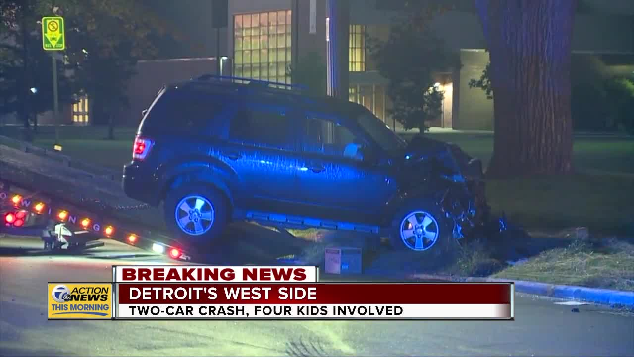 Police: 4 teens involved in serious crash on Detroit's west side