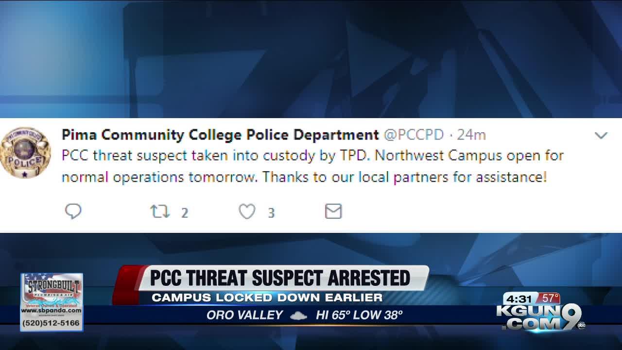 Pima Community College Lockdown Cleared Suspect In Custody