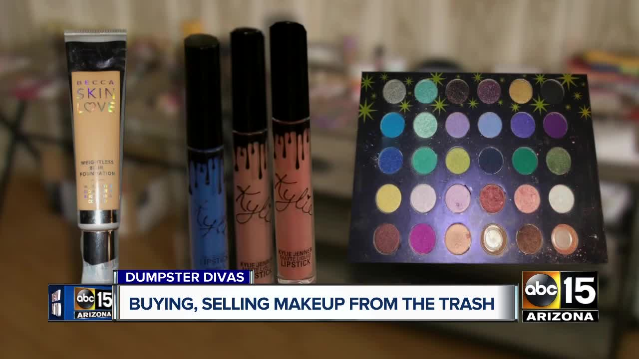Women are dumpster diving to find, sell cheap designer cosmetics