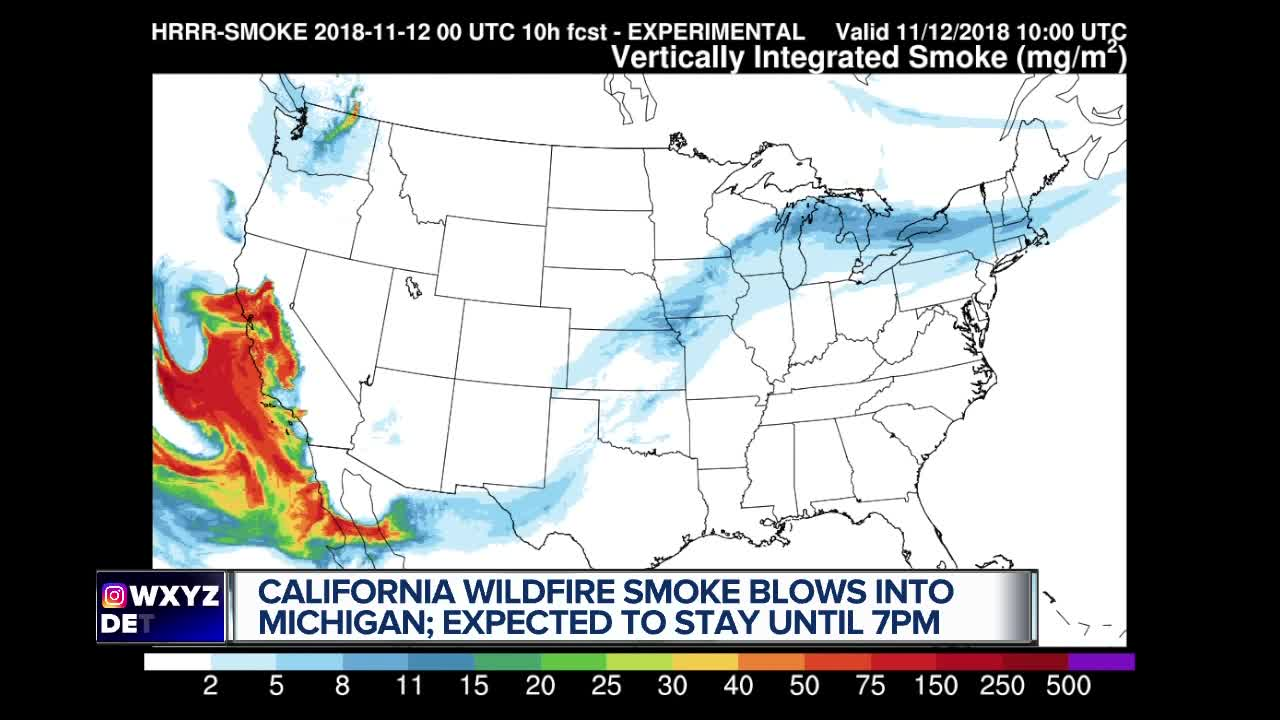 smoke from california wildfires reaches metro detroit michigan smoke from california wildfires reaches