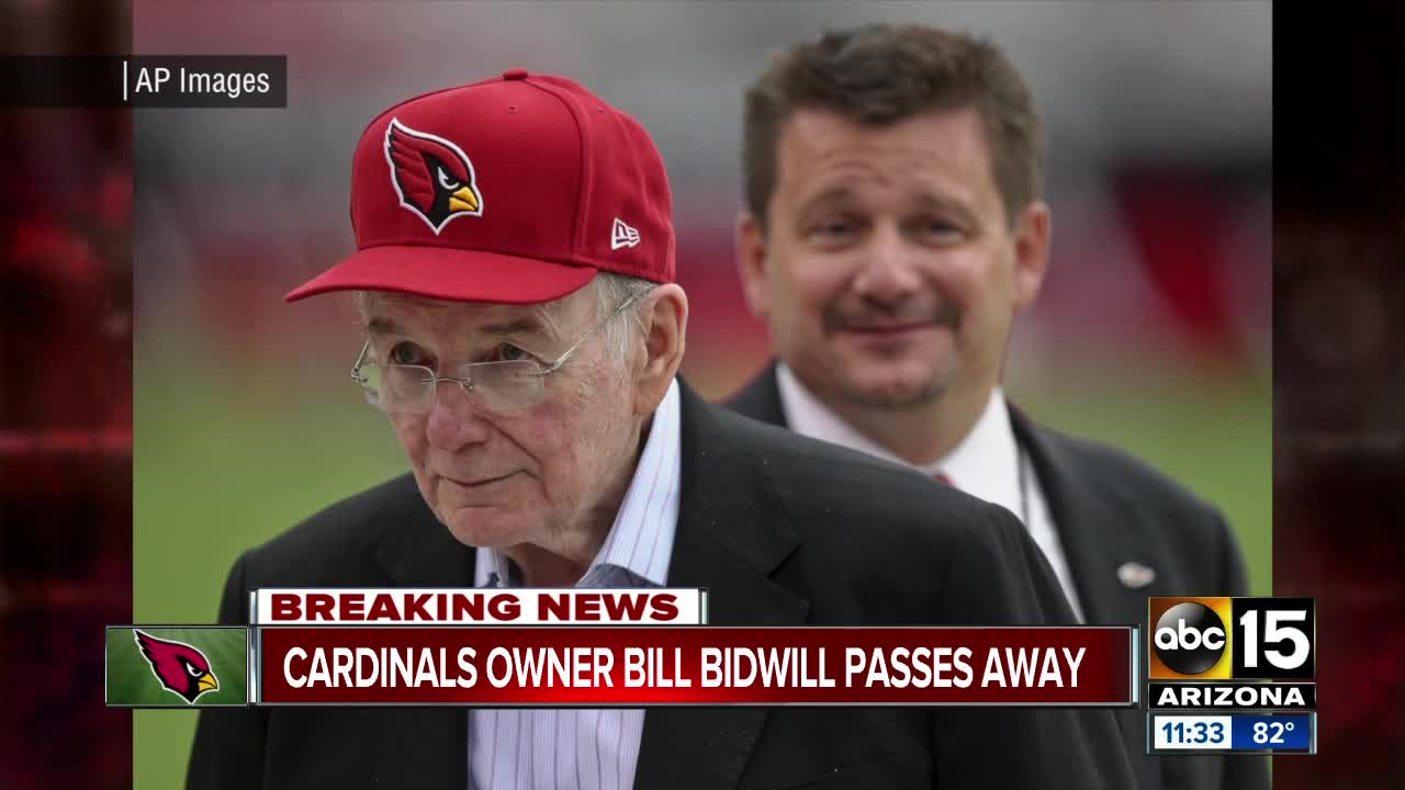Cardinals owner Bill Bidwill dies at 88
