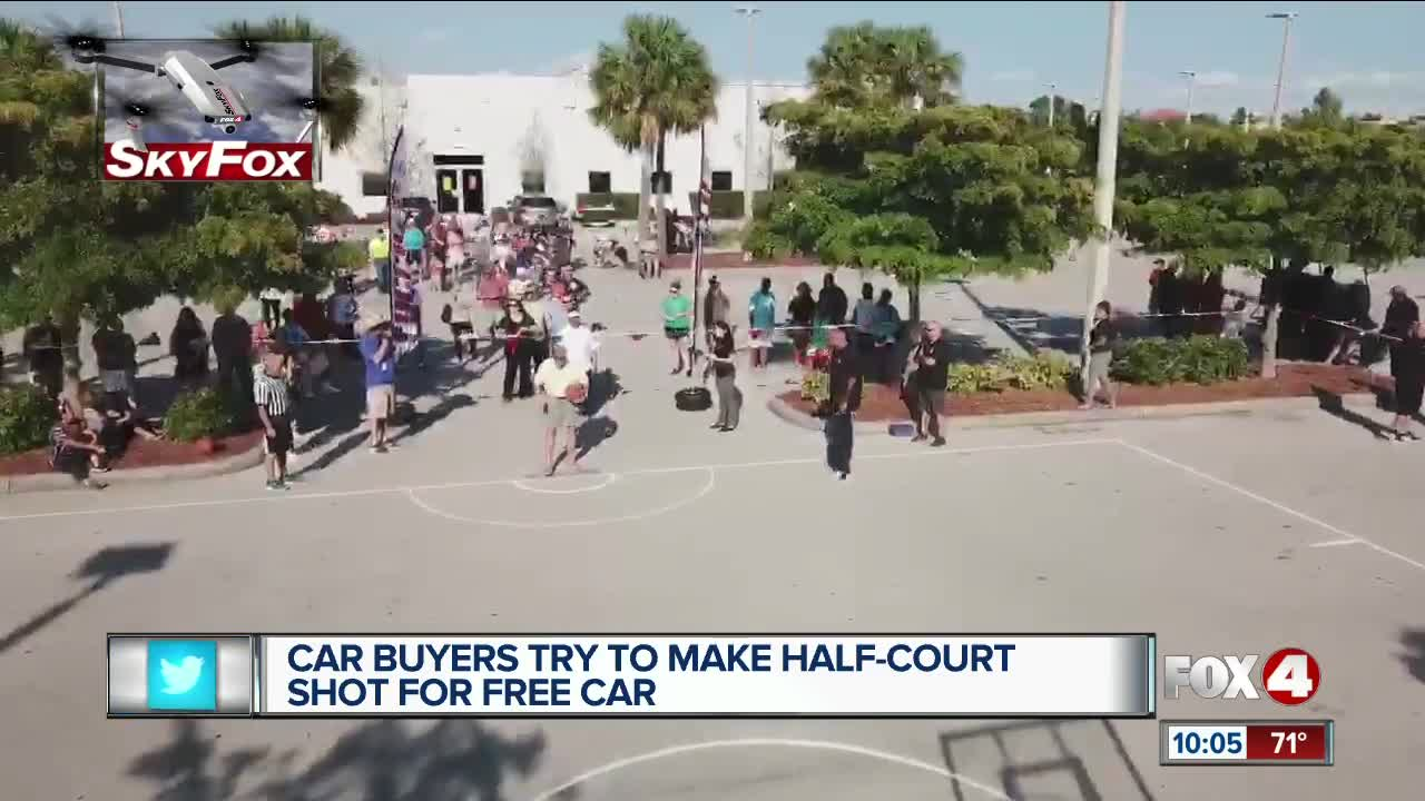Car buyers try to win free car with basketball shot in Cape