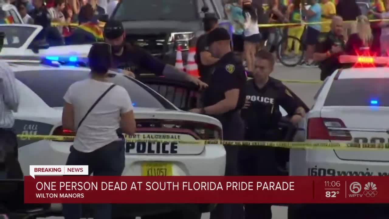 Driver hits 2 people at start of Pride parade in South Florida