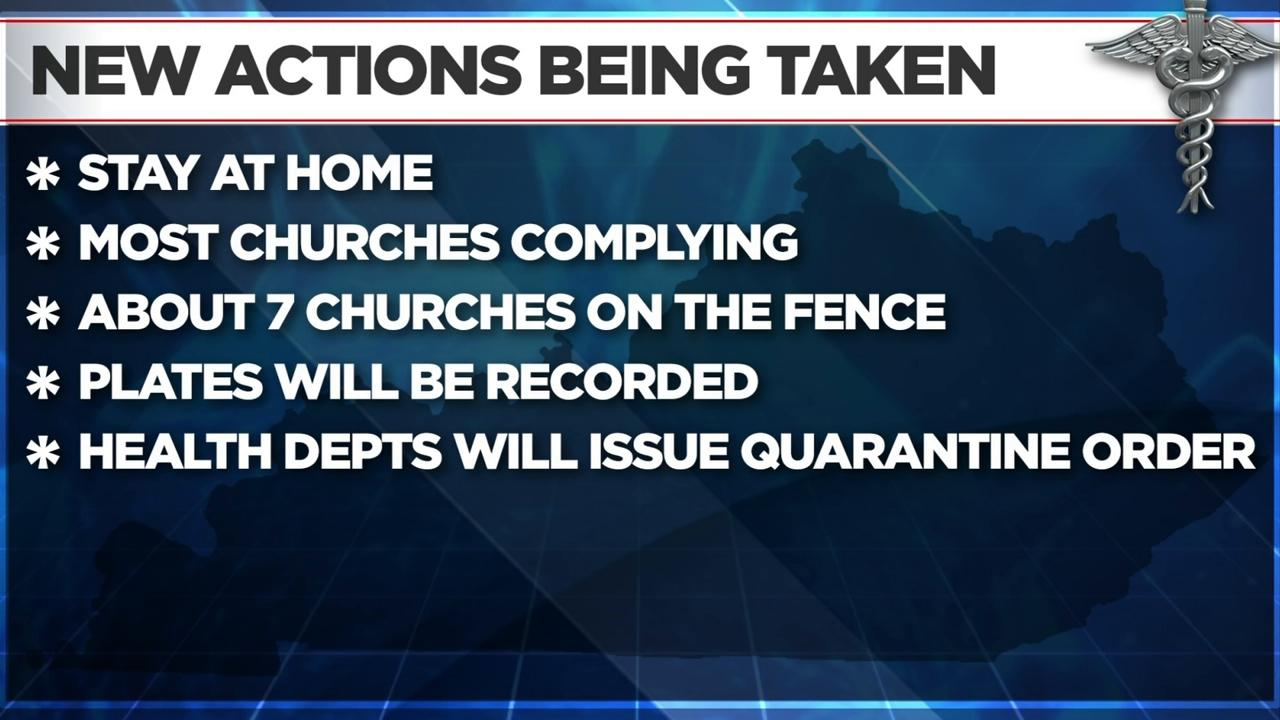 Kentucky Gov. Says In-Person Churchgoers Will Be Quarantined for 14 Days