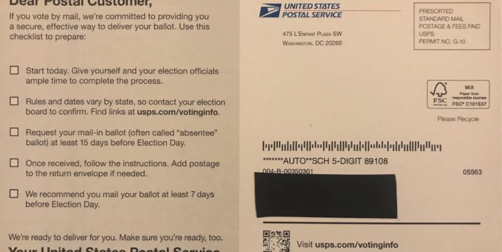 Colorado secretary of state sues Postal Service over 'false statements'
