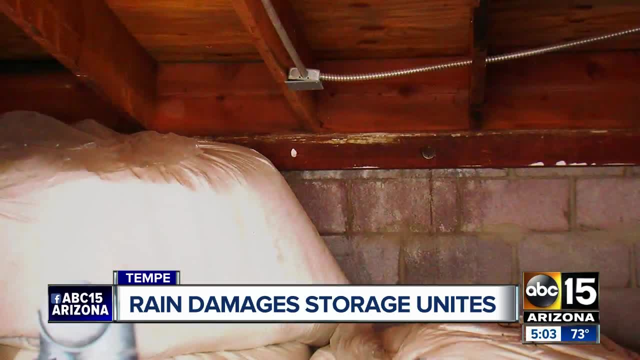 tempe storage facility flooded in weekend storm