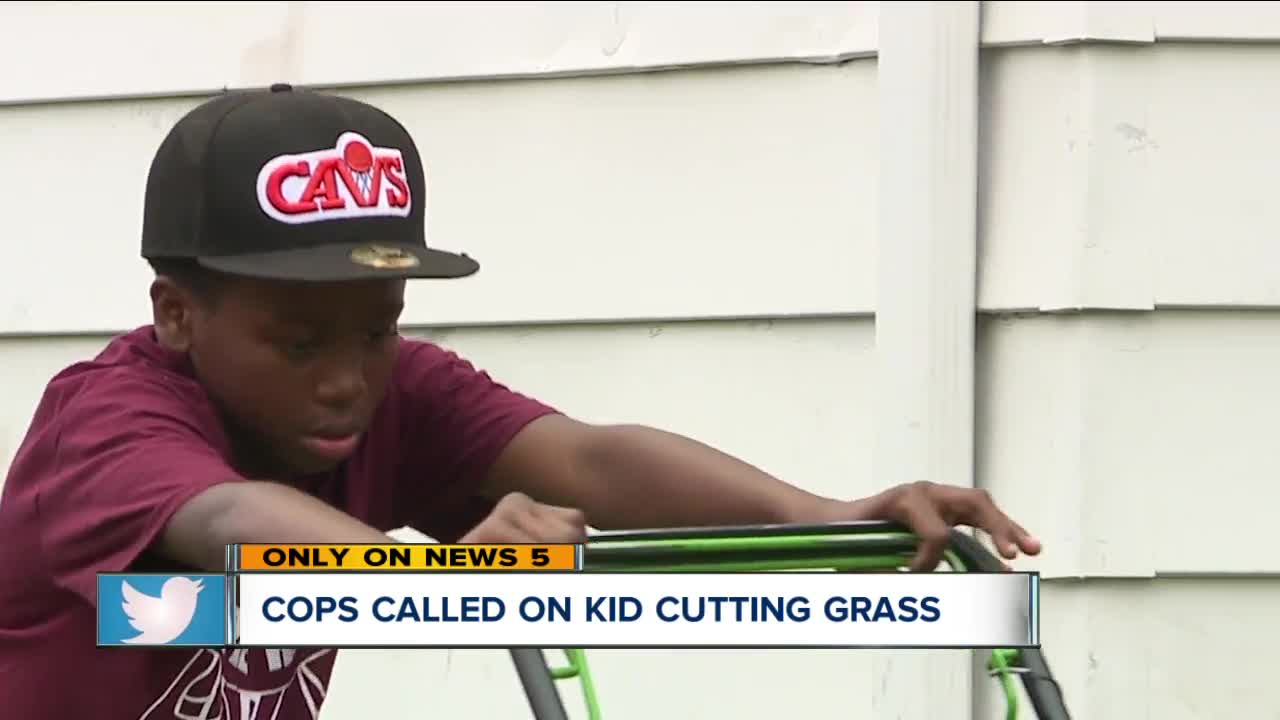 Viral Video Police Called On 12 Year Old Mowing Grass Which