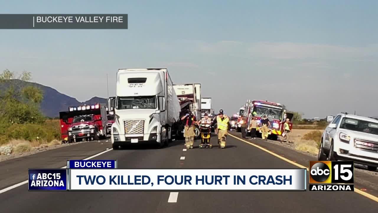FD: 2 killed, 4 injured in accident on Interstate 10 near Milepost 74