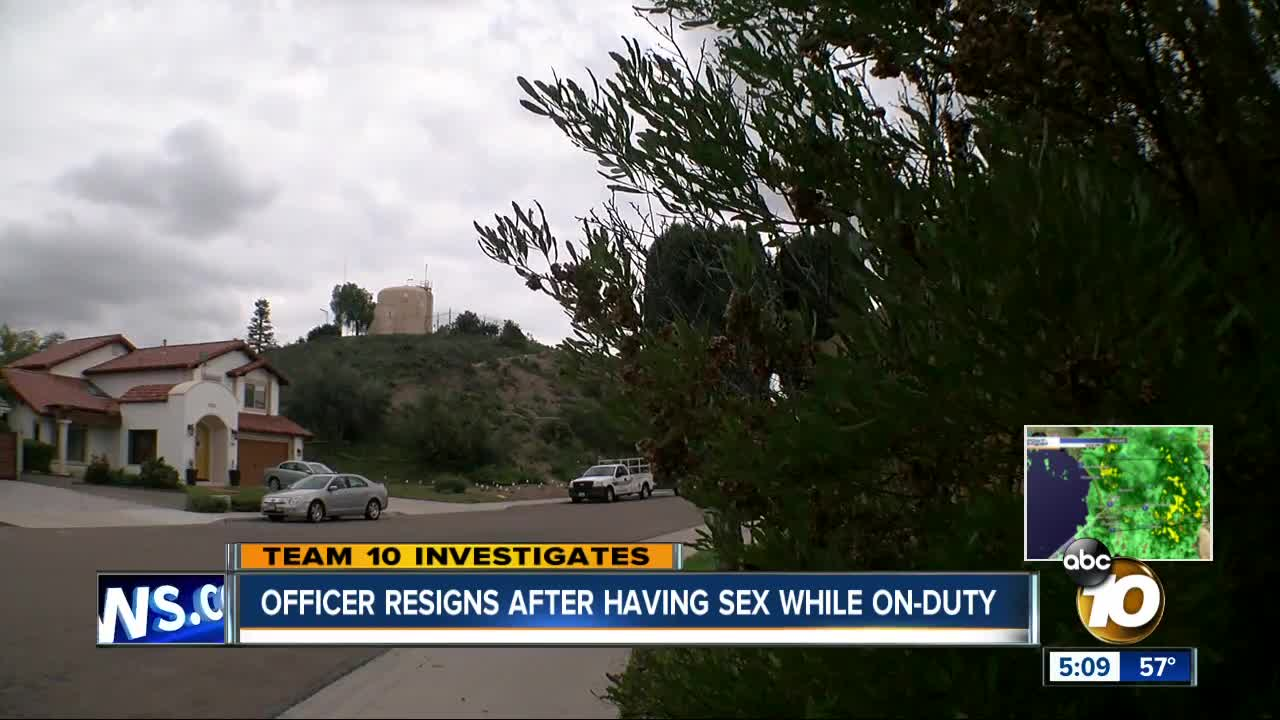 Chula Vista officer resigns after having sex while on duty