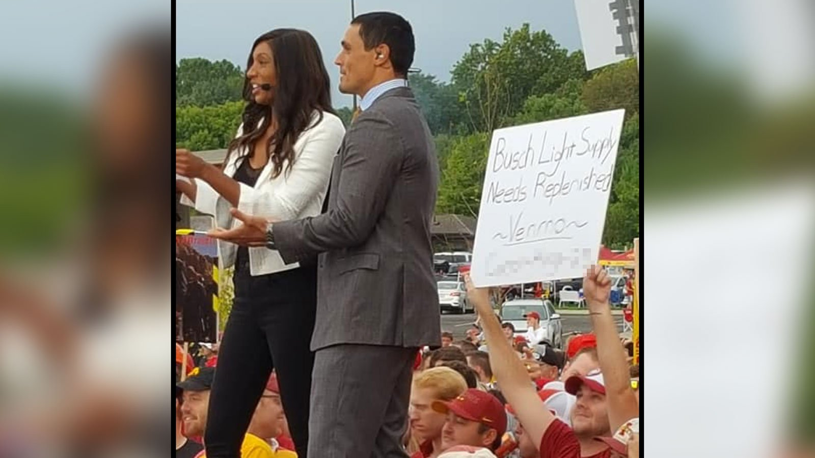 Fan's sign requesting beer money on ESPN broadcast brings in $20,000