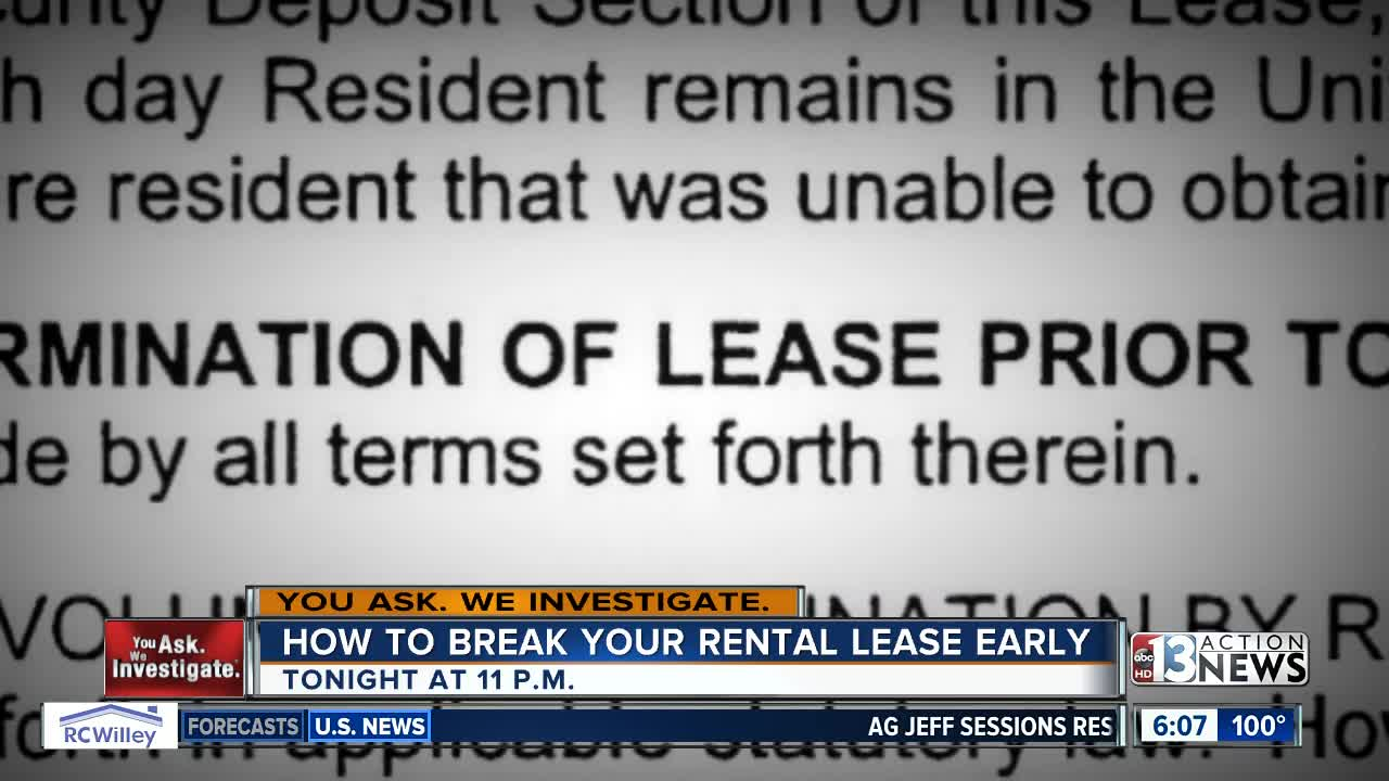 Need To Leave How To Break Your Rental Lease Early In Nevada Ktnv