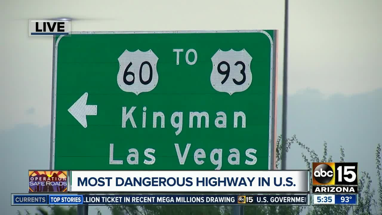 US 93 most dangerous highway in country, according to study