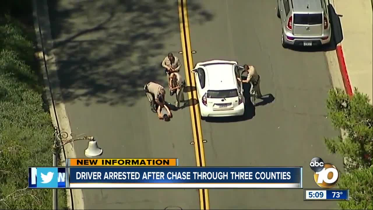 CHP: Driver steals patrol vehicle, leads officers on chase in San