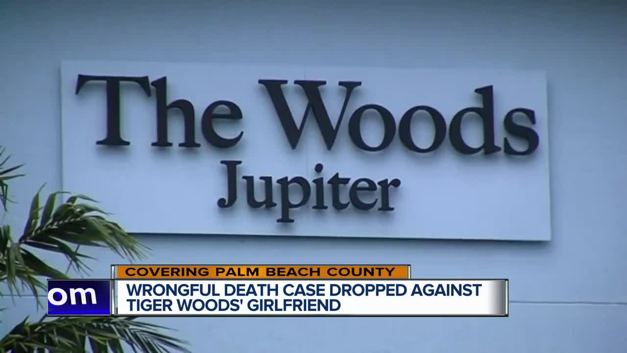 Wrongful death case dropped against Woods' girlfriend