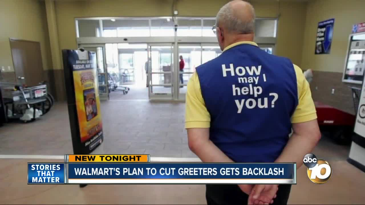 Disabled employee anxious as Walmart says goodbye to greeters