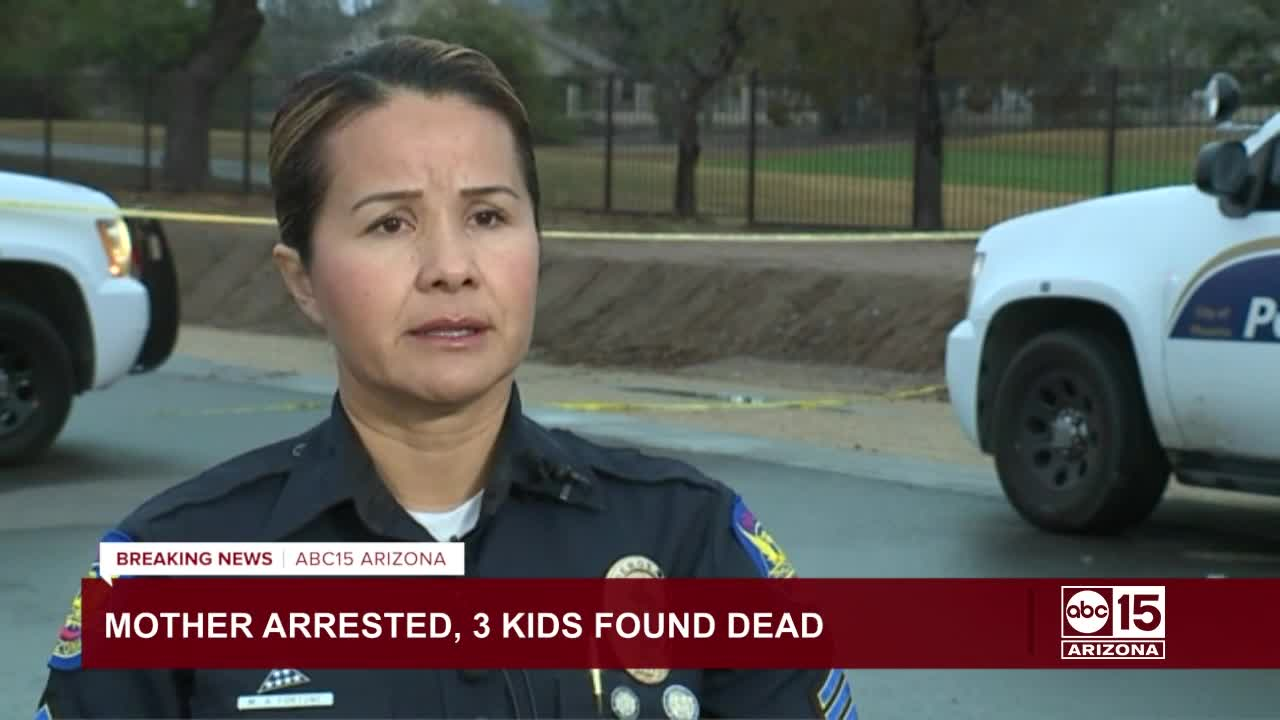 Phoenix police: 3 children found dead, mother arrested