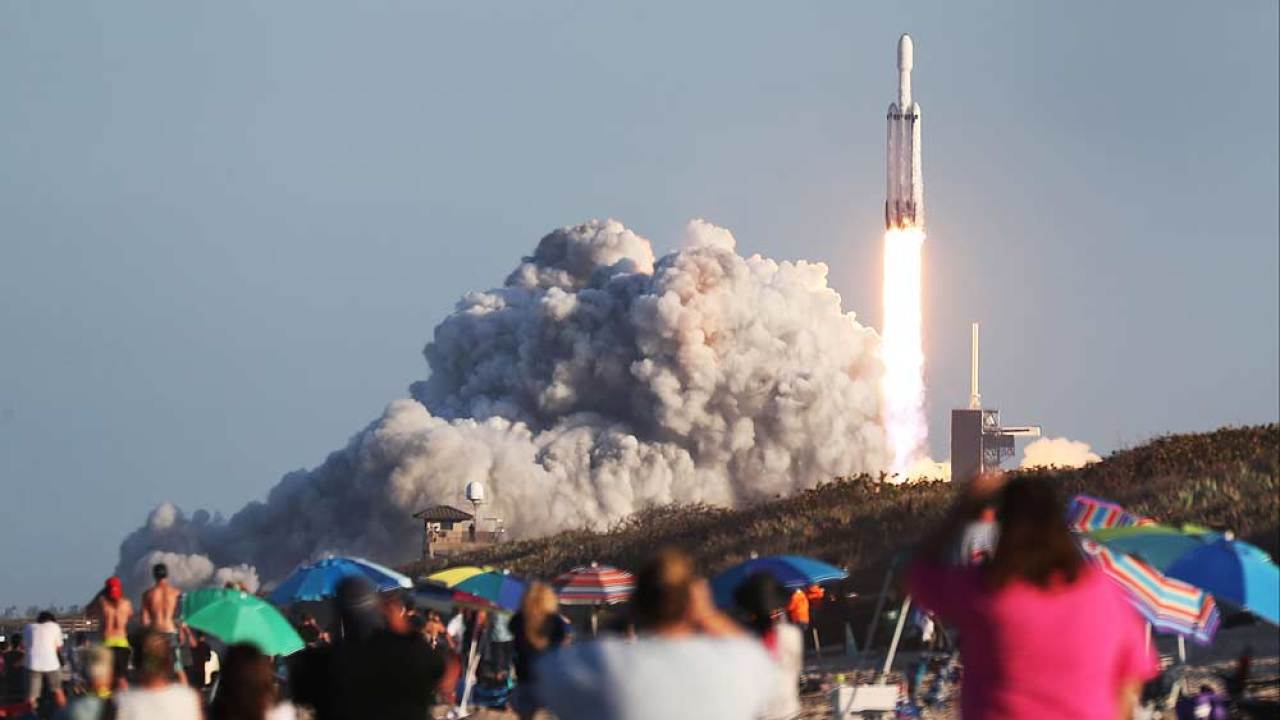 SpaceX successfully launches 'most complicated' Falcon Heavy rocket with 24 payloads